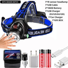 Load image into Gallery viewer, Powerful 20000LM LED Headlamp and Body Motion Sensor