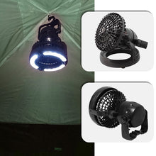 Load image into Gallery viewer, 2 in 1 LED Camping Fan Tent Lamp