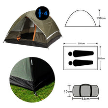 Load image into Gallery viewer, Dual Layer 3 Season Windbreak Camping Tent