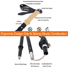 Load image into Gallery viewer, Ultralight Telescopic Foldable Nordic Carbon Fiber Trekking Poles