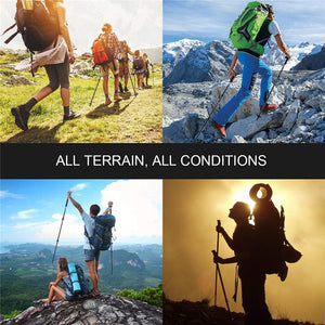 Ultralight Telescopic Foldable Nordic Carbon Fiber Trekking Poles