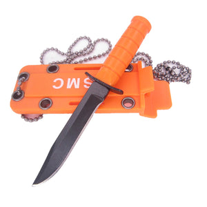 Mini Outdoor EDC Necklace Survival Defense Knife
