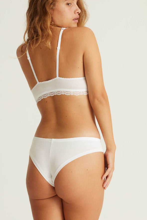 Brazilian cut undies CHEEKY BASE- white