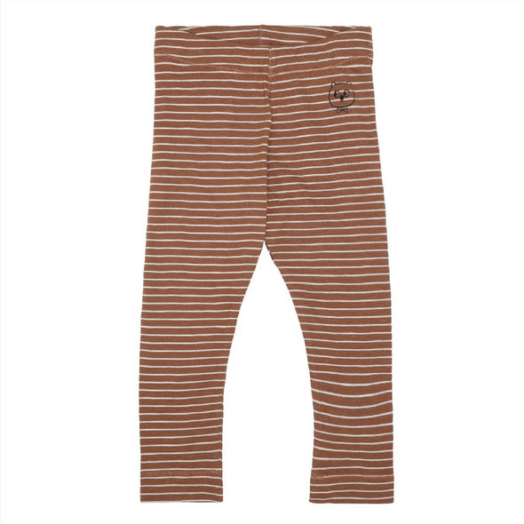Stribet Leggings - Brændt - Monsieur Mini