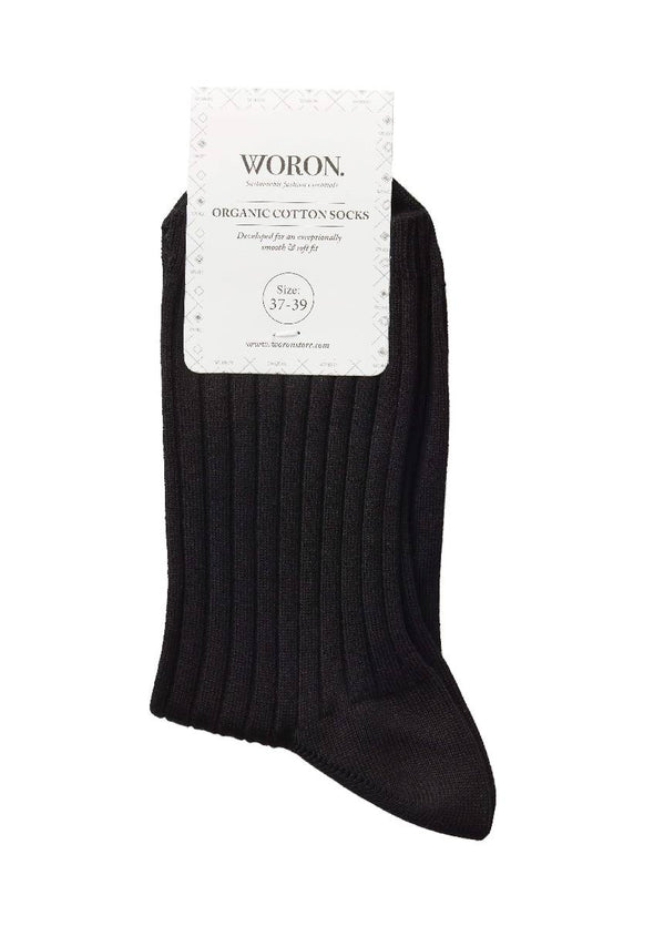 ORGANIC COTTON SOCKS- black