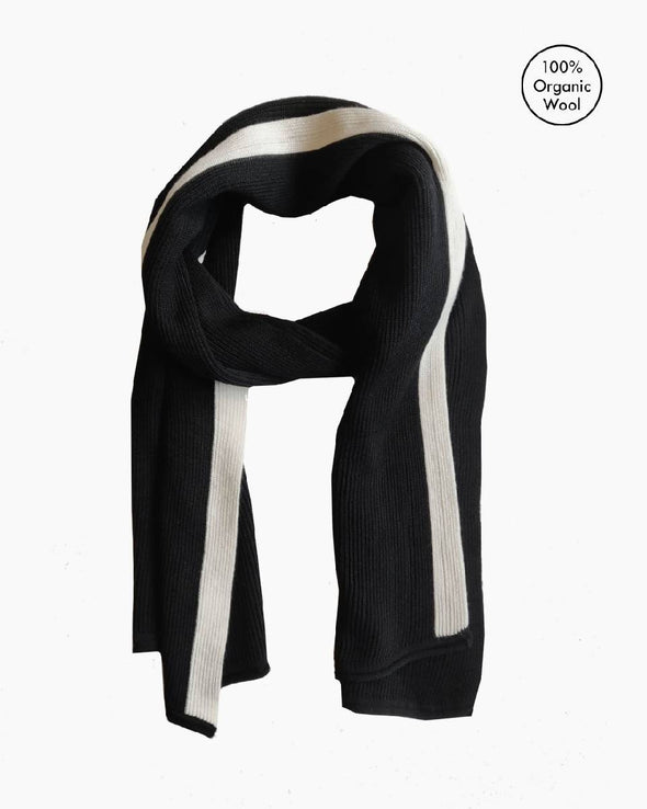 Coastal Stripe Scarf - Black