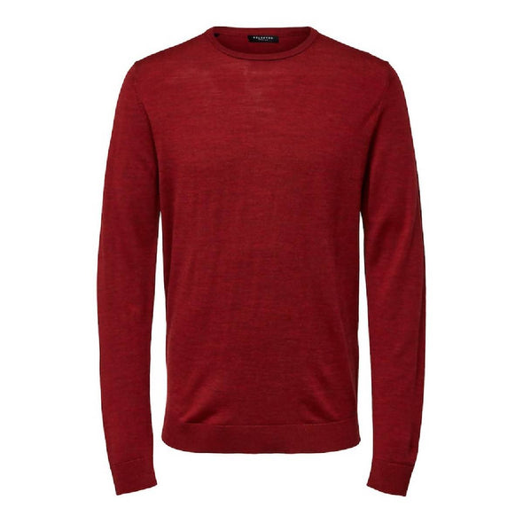 Selected Homme | Tower Merino Crew Neck Rhubarb