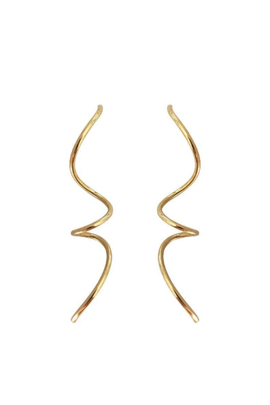 Large Spiral earrings gold plated