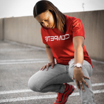 Fire Red COMPETE Reflection Tee