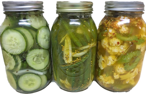 Variety of Vegetable are Excellent for Pickling, All Types of Peppers, cucumbers, zucchini, squash, pearl onions, celery, carrots, broccoli, cabbage, cauliflower, green beans, asparagus, mushrooms.  Add some Sugar, Vinegar, water and store in the fridge!