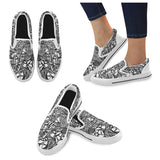 ABSTRACT CASUAL Men's Slip-on Canvas Shoes (Model 019)