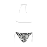 NA222- BUCKLE FRONT BIKINI 15 Buckle Front Halter Bikini Swimsuit (Model S08)