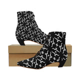 ABSTRACT W BOOT X Women's Pointed Toe Low Heel Booties (Model 052)