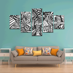 NOCTURNAL ABSTRACT Canvas Wall Art I