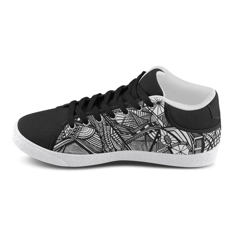 NOCTURNAL M HIGH TOP Men's Chukka Canvas Shoes (Model 003)