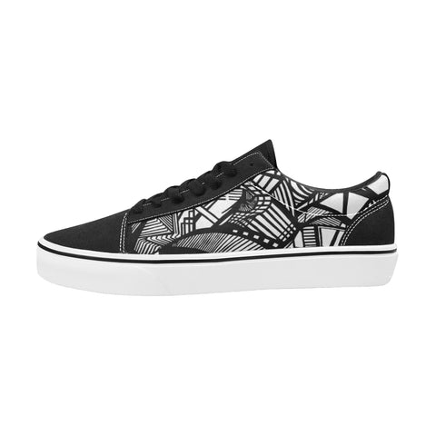 A NOCTURNAL SKATE Men's Low Top Skateboarding Shoes (Model E001-2)