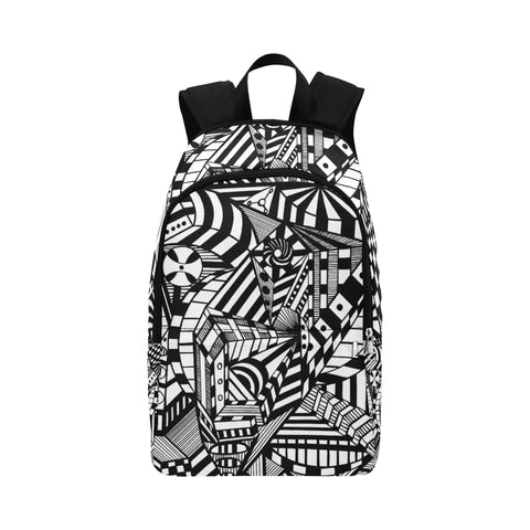A ABSTRACT CANVAS Fabric Backpack for Adult (Model 1659)
