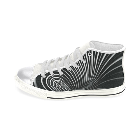 NOCTURNAL W X Women's Classic High Top Canvas Shoes (Model 017)