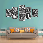 NOCTURNAL ABSTRACT Canvas Wall Art H