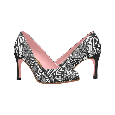 A NOCTURNAL PINK SERIES TRADITIONAL Women's High Heels (Model 048)