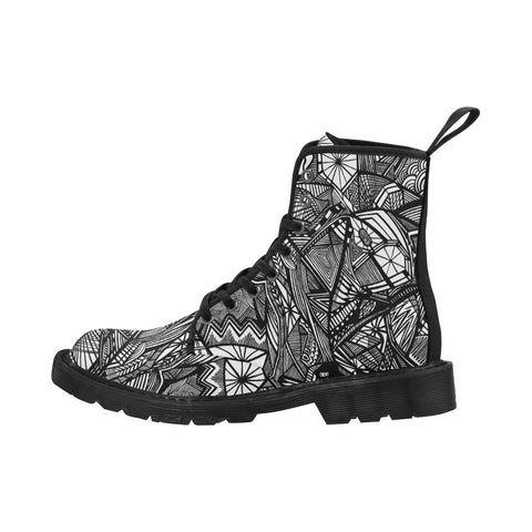 A NOCTURNAL BOOTS Martin Boots for Men (Black) (Model 1203H)