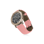 Women's Rose Gold Leather Strap Watch