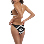 NA222- BUCKLE FRONT BIKINI 7B Buckle Front Halter Bikini Swimsuit (Model S08)