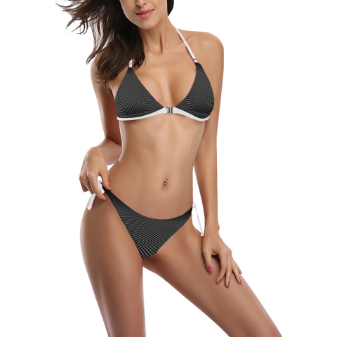 NA222- BUCKLE FRONT BIKINI Buckle Front Halter Bikini Swimsuit (Model S08)