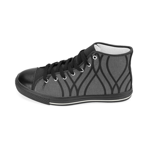 ABSTRACT M HIGH TOP X Men's Classic High Top Canvas Shoes (Model 017)