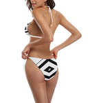 NA222- BUCKLE FRONT BIKINI 7 Buckle Front Halter Bikini Swimsuit (Model S08)