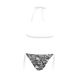 NA222- BUCKLE FRONT BIKINI 22 Buckle Front Halter Bikini Swimsuit (Model S08)
