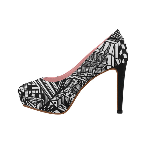 A NOCTURNAL PINK SERIES PLATFORM Women's High Heels (Model 044)