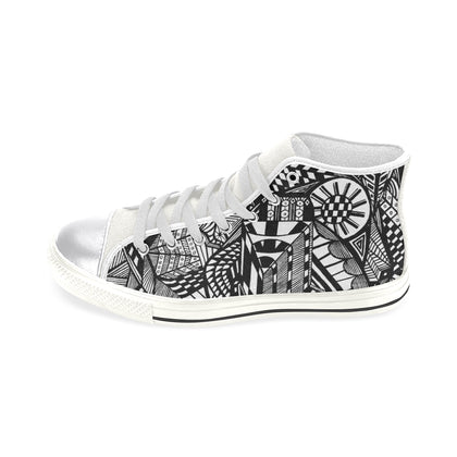 A NOCTURNAL W Women's Classic High Top Canvas Shoes (Model 017)