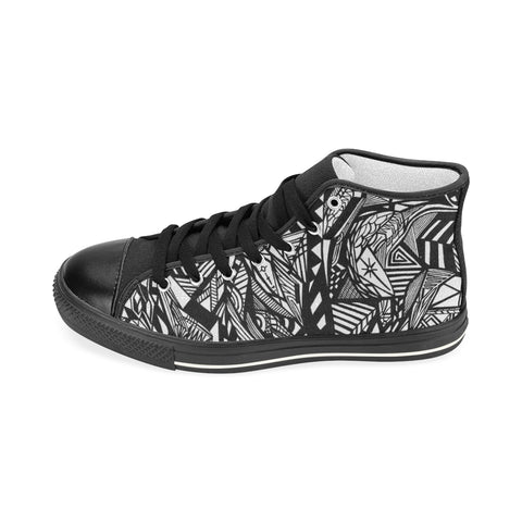 ABSTRACT M HIGH TOP Men's Classic High Top Canvas Shoes (Model 017)