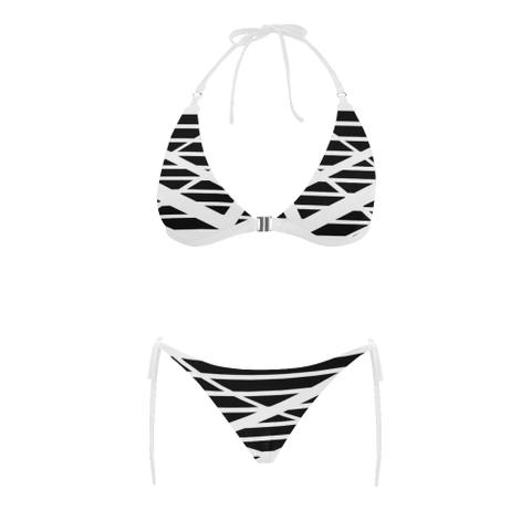 NA222- BUCKLE FRONT BIKINI 9B Buckle Front Halter Bikini Swimsuit (Model S08)