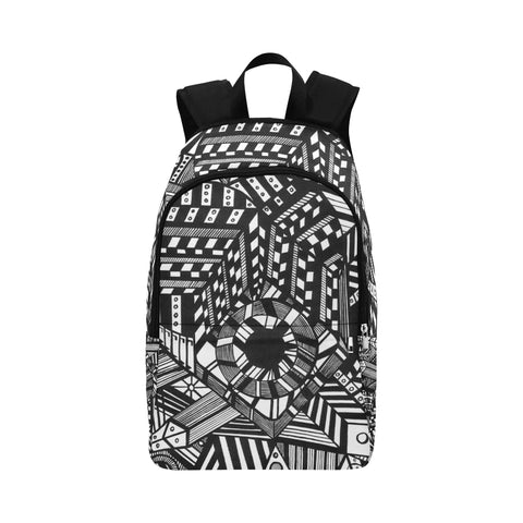 ABSTRACT CANVAS Fabric Backpack for Adult (Model 1659)
