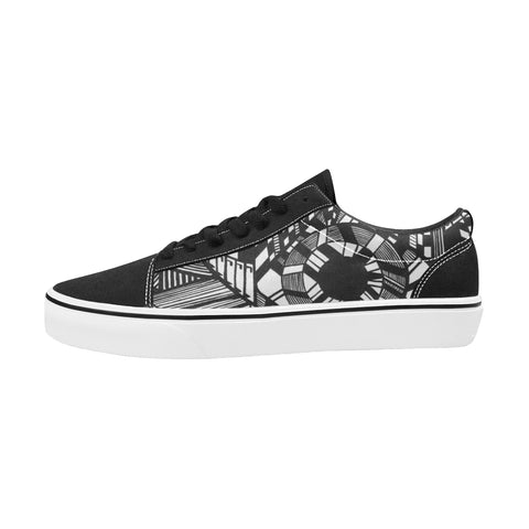 NOCTURNAL SKATE Men's Low Top Skateboarding Shoes (Model E001-2)
