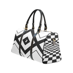 NA222 - SMALL DUFFEL 1 LOGO CHECKER New Waterproof Travel Bag/Small (Model 1639)