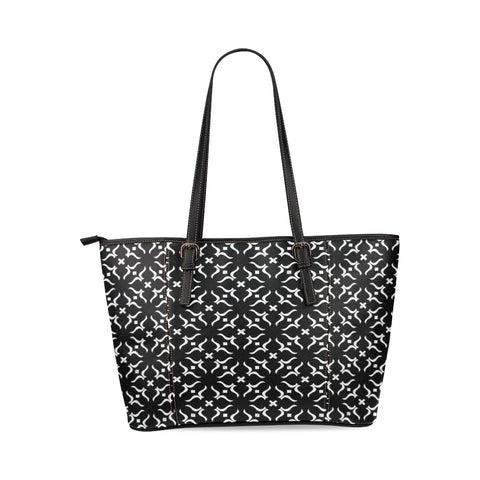NOC TOTE X Leather Tote Bag/Large (Model 1640)