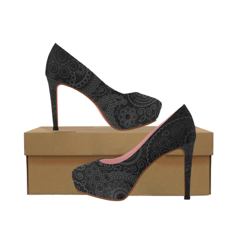 FIGHT IN PINK - WOMEN'S PLATFORM HIGH HEEL