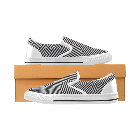 ABSTRACT CASUAL X Men's Slip-on Canvas Shoes (Model 019)