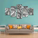 NOCTURNAL ABSTRACT Canvas Wall Art B