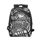 A ABSTRACT BLACK X Unisex Laptop Backpack (Model 1663)