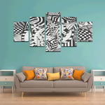 NOCTURNAL ABSTRACT Canvas Wall Art J