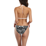 NA222- BUCKLE FRONT BIKINI 20 Buckle Front Halter Bikini Swimsuit (Model S08)