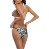 NA222- BUCKLE FRONT BIKINI 4 Buckle Front Halter Bikini Swimsuit (Model S08)