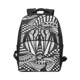 ABSTRACT BLACK X Unisex Laptop Backpack (Model 1663)