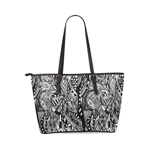 A NOC TOTE Leather Tote Bag/Large (Model 1640)