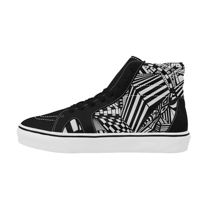 HIGH SKATE Men's High Top Skateboarding Shoes (Model E001-1)