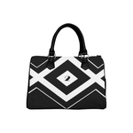 NA222- BOSTON HANDBAG BLACK LOGO Boston Handbag (Model 1621)